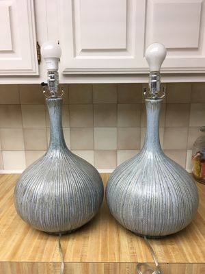 Pair on ceramic genie bottle shaped lamps for Sale in Bedford, TX