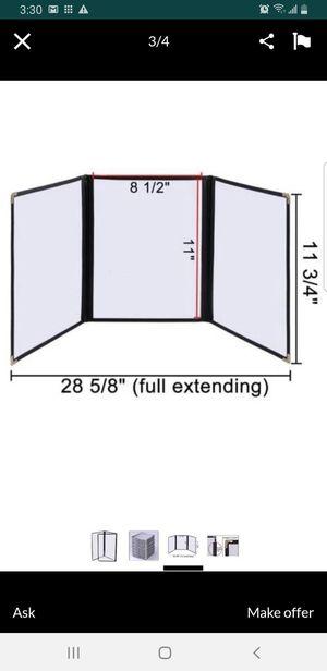 "Clear Restaurant Menu Cover Folder Triple 8-1/2"" x 14"" for Sale in Bellflower, CA"