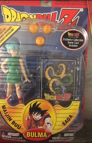 Bulma maijin buu saga Dragon ball Z action figure with collectible trading card for Sale in Antioch, CA