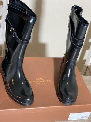 Women's Coach Trisha Rain Boots size 8 M for Sale in Moreno Valley, CA
