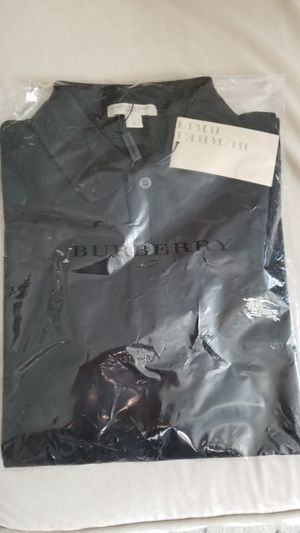 Burberry Men Polo Size M, Color black for Sale in Morrisville, NC