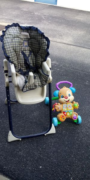 High chair and electronic child toy ..both for 10 for Sale in Newport News, VA