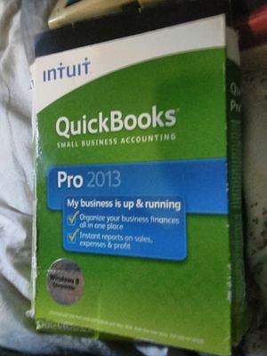 Quick books pro 2013 for Sale in Tacoma, WA