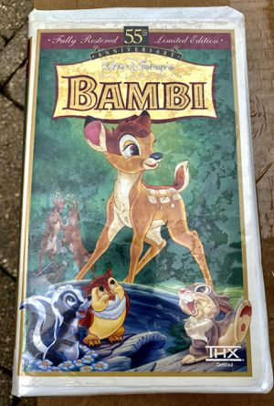 Disney's 55th Anniversary Limited Addition BAMBI VHS for Sale in Wheaton, IL