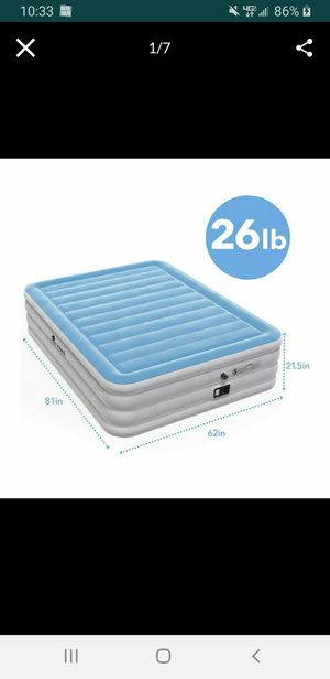 Vermi Queen Size Air Mattress with Built in Pump Great for Camping and Travel NEW IN BOX for Sale in Los Alamitos, CA