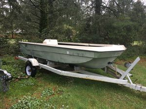 15' Kingfisher Bass/Fishing boat w/trailer for Sale in Ruston, WA