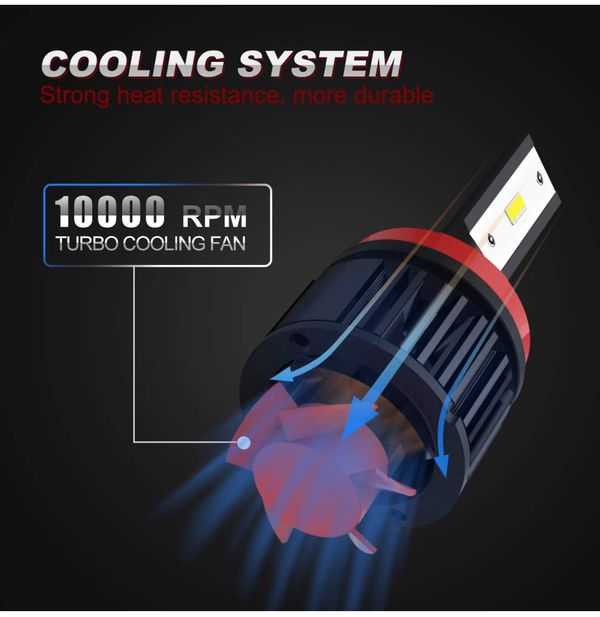 H11/H8/H9 LED Headlight Bulbs Conversion Kit, DOT Approved, SEALIGHT X1SS Series 12x CSP Chips - 9600LM 6000K Super Bright Xenon White Non-polarity (