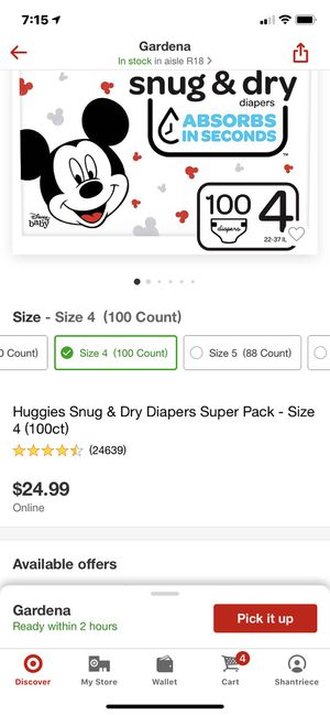 HUGGIES diapers for Sale in Gardena, CA