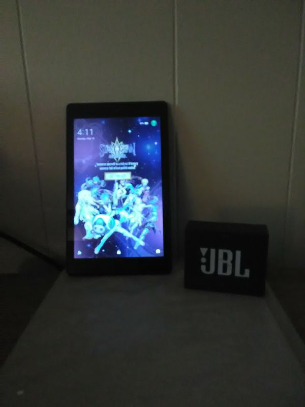 Amazon fire HD 8 with Alexa and JBL GO Bluetooth speaker