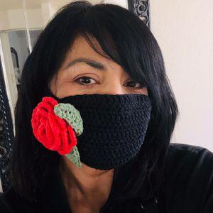 Rose face mask with filter pocket for Sale in Menifee, CA