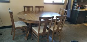 Antique oak table and chairs for Sale in Seattle, WA