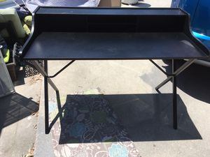 Black writing desk with shelf for Sale in Los Angeles, CA