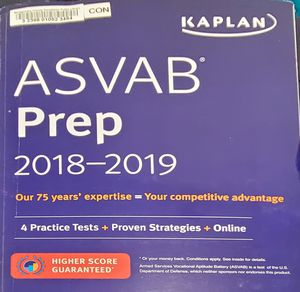 ASVAB prep book 2018-2019 (no CD included) for Sale in Riverview, FL
