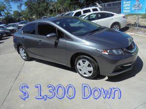 2015 Honda Civic LX $1,300 Down for Sale in Tampa, FL