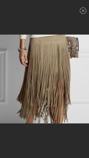 Suede fringe skirt for Sale in Los Angeles, CA