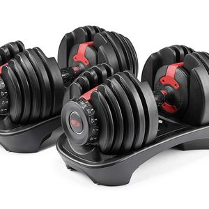 Bowflex SelectTech 552 Version 2 | Two Adjustable Medium Dumbbells | Black, Red & Grey for Sale in Garden Grove, CA