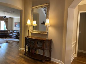Chest and mirror ( Model home designer collection) for Sale in Cedar Park, TX