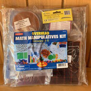 Lakeshore - Teacher Math Manipulative Kit Grades 3-6 for Sale in Los Angeles, CA