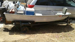 Sears Fishing Boat w/trailer PRICE IS RIGHT for Sale in Norco, CA