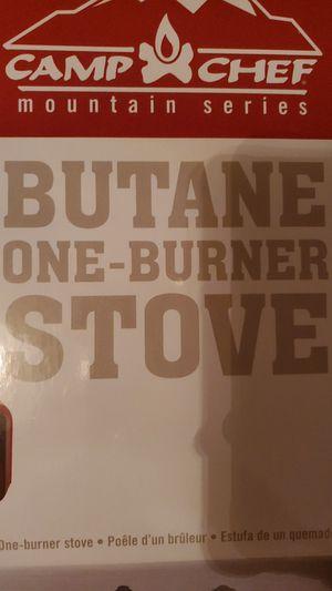 Camp chef BUTANE ONE-BURNER STOVE for Sale in Everett, WA