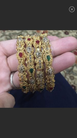 Gold plated bangles set for Sale in Silver Spring, MD