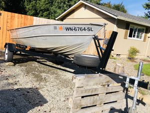 Valco 14 ft Aluminum Boat + Trailer for Sale in Yacolt, WA