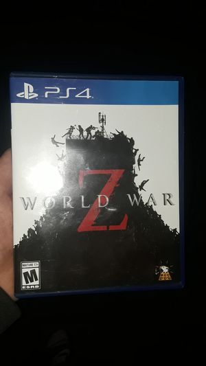 World war z ps4 game only played once for Sale in Porter, TX