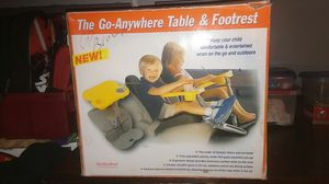 Go-anywhere table & footrest for Sale in Bakersfield, CA