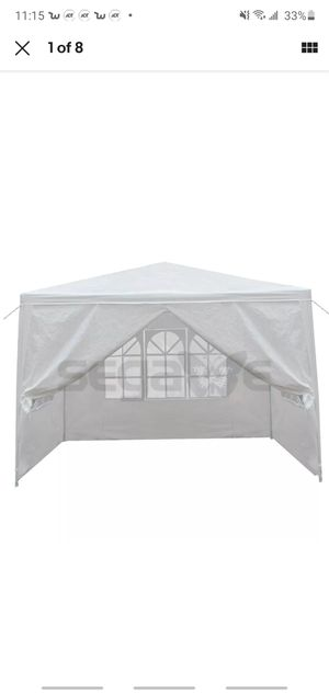 10' x 10' Outdoor Canopy Party Wedding Tent Gazebo Pavilion w/4 Side Walls White for Sale in Las Vegas, NV