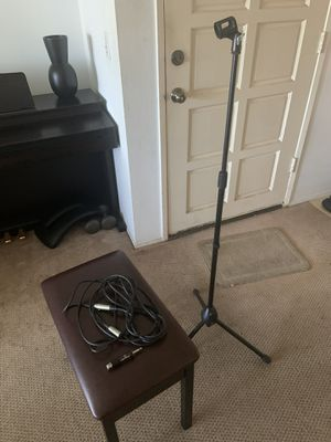 Nady Microphone Stand + Mic Cable & Adapter for Sale in Huntington Beach, CA