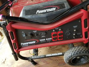 Powermate generator $350.00 negotiable.. used 3xs during storm a few years ago. for Sale in Bowie, MD