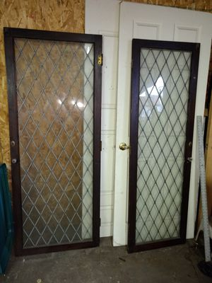 "***Wood with glass doors*** $40 obo for set **23"" & 28"" for Sale in Philadelphia, PA"