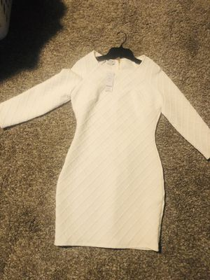 Bebe White Long Sleeve Dress for Sale in San Diego, CA