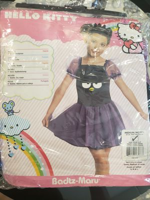 Rubies Costumes Hello Kitty Badtz Maru Child Costume Black/Purple for Sale in Grand Prairie, TX