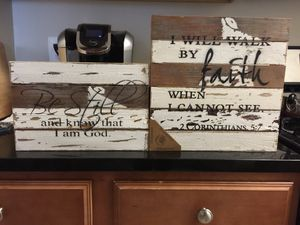 Wood - pictures of encouragement for Sale in Herndon, VA