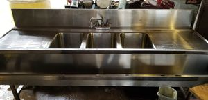 Commercial 3 compartment sink for Sale in Birmingham, AL