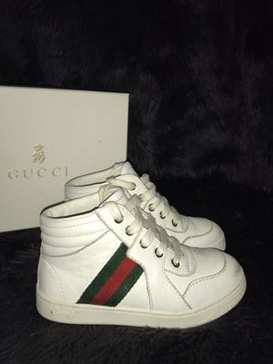 Gucci Boys Leather Web Trim Sneakers for Sale in Houston, TX