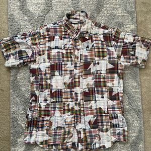 Vintage Bathing Ape Star Patchwork Short Sleeve Button Up for Sale in Lawrenceville, GA