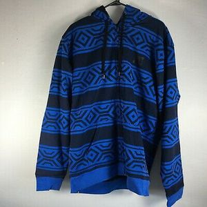 (1)DC Men's Tribal Print Sherpa Lined Full Zip Hoodie Jacket Sweatshirt Blue Sz S for Sale in El Monte, CA