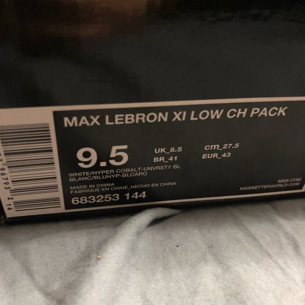 Nike Max Lebron XI Low CH Pack men's size 9.5