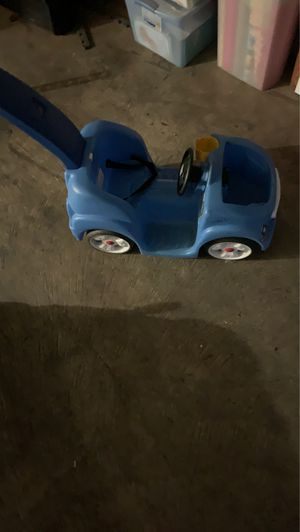 Step 2 Blue Car With Pushing Handle for Sale in Anaheim, CA