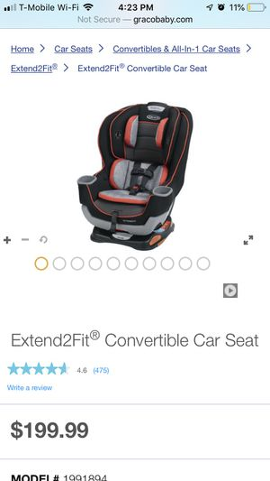 Graco convertible car seat for Sale in Tacoma, WA