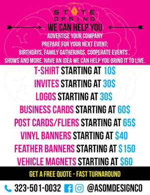 Custom work, logos, banners, business cards and more for Sale in Long Beach, CA