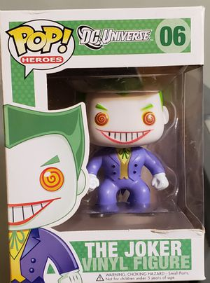 """THE JOKER """"DC UNIVERSE"""" Funko POP! Heroes (Comic) #06. RETIRED! Imperfect box , see pictures for Sale in Wareham, MA"""