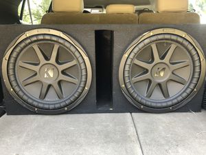 2 kicker comp vx 12' subwoofers and amp for Sale in Grayson, LA