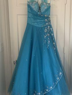 Aqua Corset Gown Sweet 16 Dress Quinceañera Gown for Sale in West Palm Beach,  FL