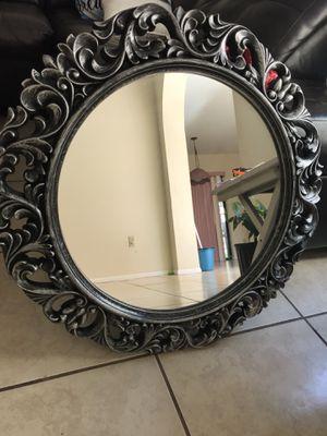 Circle Mirror- Chrome Color Gray for Sale in Orlando, FL
