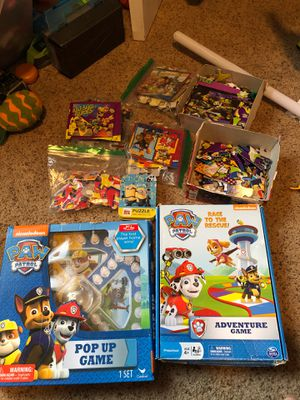 Paw patrol games puzzles ninja turtle Spider-Man minion puzzles for Sale in Vancouver, WA