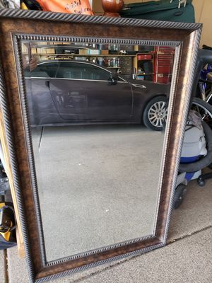 Fancy Wood Frame Mirror for Sale in Chandler, AZ