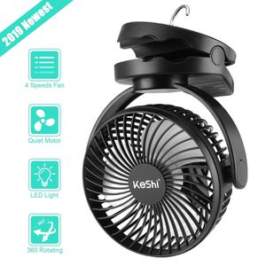 Camping Tent Fan with LED Lights - Battery Powered Small Desk Fan - Portable Tent Fan - USB Rechargeable Fan for Camping, Hiking, Home and Office for Sale in Upland, CA